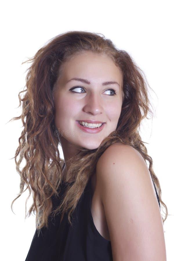 Sorridere felice del bello ritratto dell'adolescente immagini stock libere da diritti