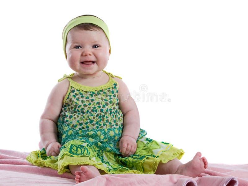 Sorridere felice della neonata fotografia stock libera da diritti