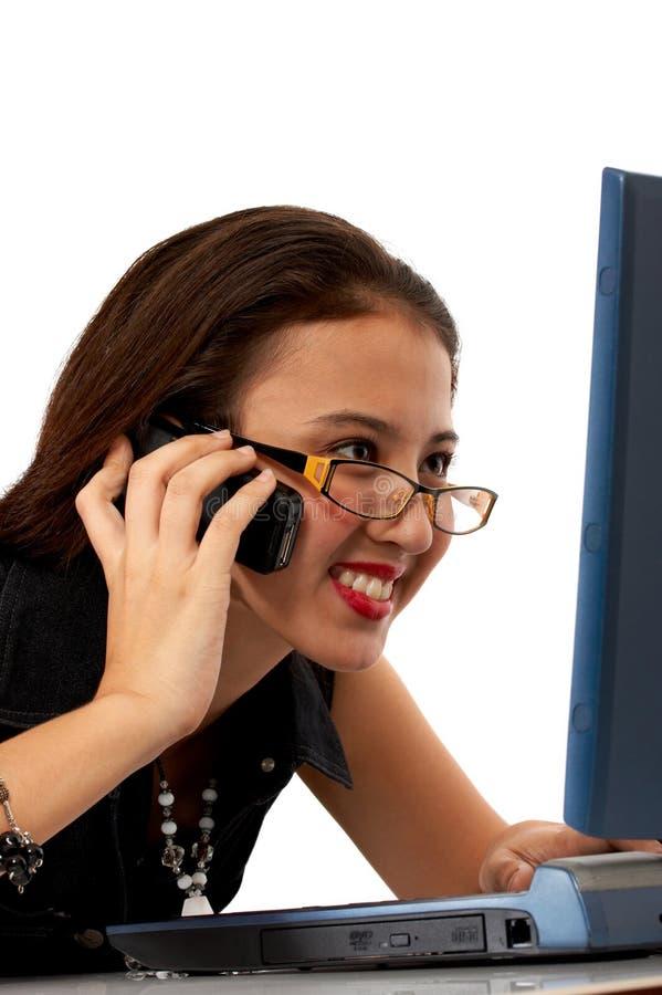 Sorridere femminile degli impiegati fotografia stock