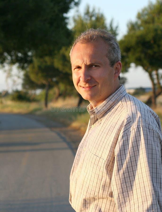 Sorridere Maturo Dell Uomo Fotografia Stock