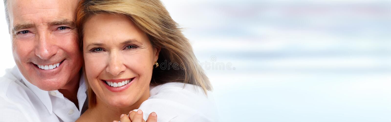 Sorridere senior delle coppie fotografie stock