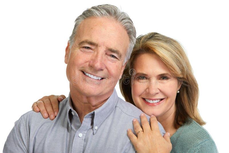 Sorridere senior delle coppie immagine stock