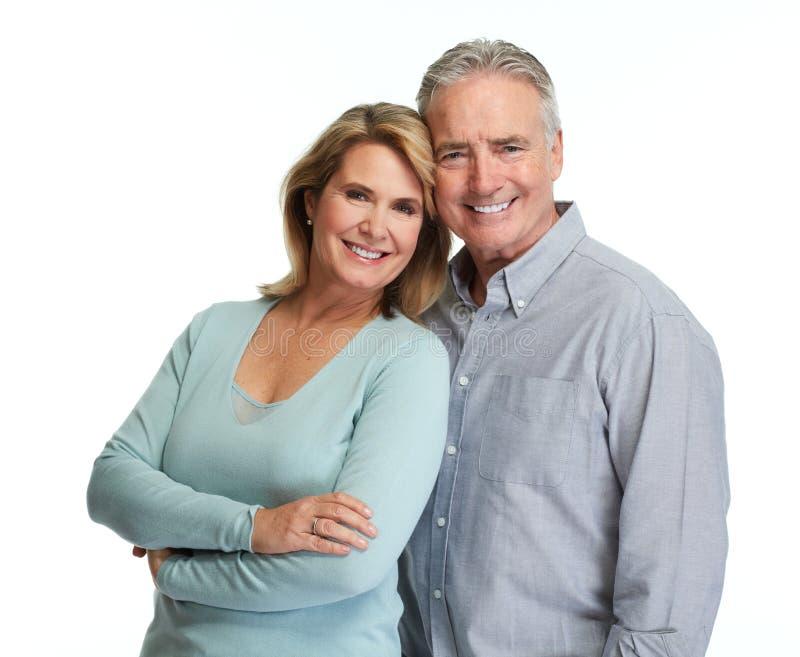 Sorridere senior delle coppie fotografia stock