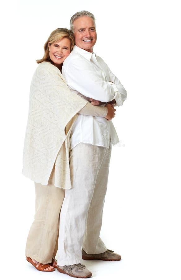 Sorridere senior delle coppie fotografie stock libere da diritti