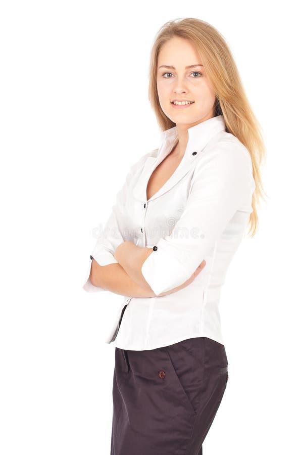 Sorridere sicuro della donna di affari fotografie stock