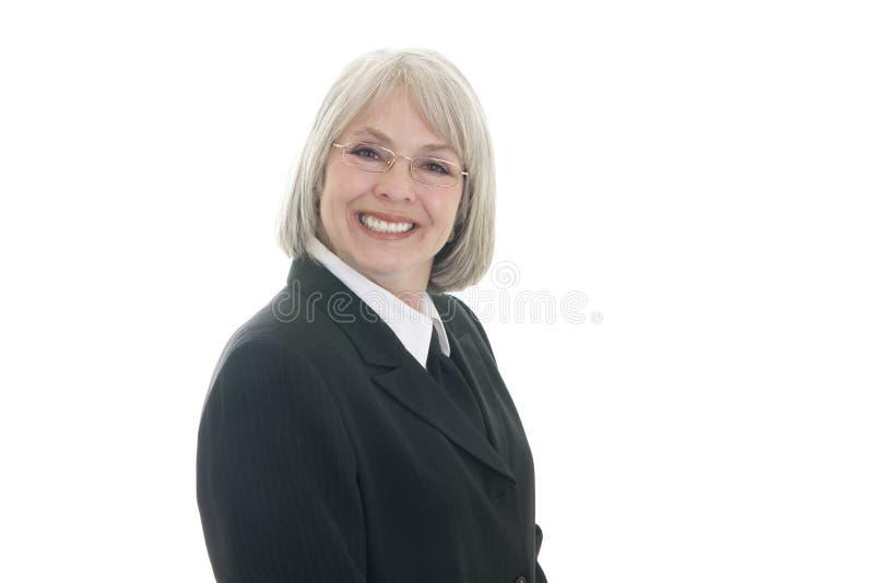 Sorridere sveglio della donna di affari fotografie stock libere da diritti