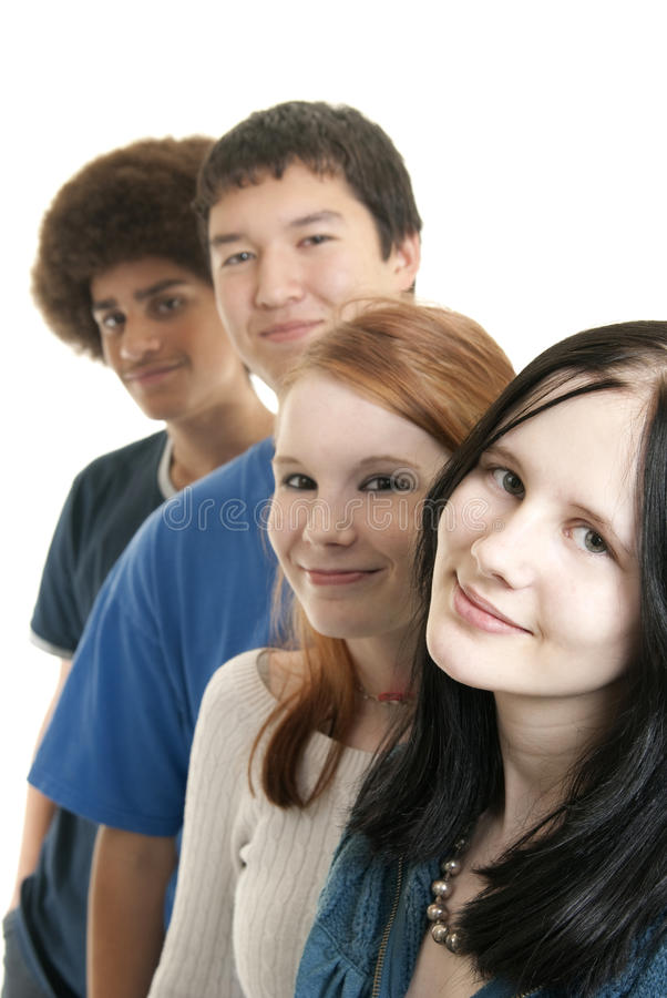 Sorridere teenager etnico degli amici fotografia stock libera da diritti