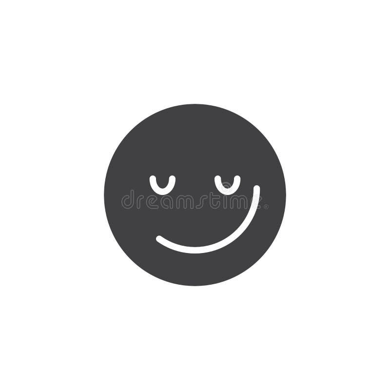 Sorrindo o ícone do vetor do emoji da cara ilustração do vetor