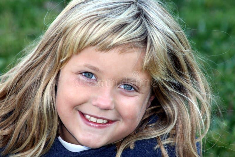 Sorrindo, rapariga feliz fotografia de stock