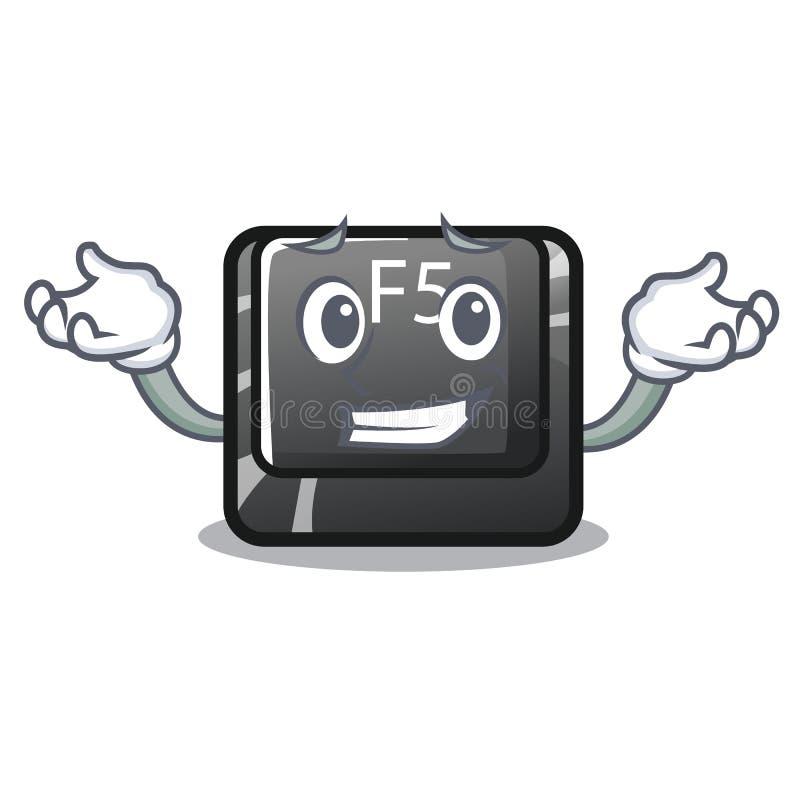 Sorrir f5 instalou no computador da mascote ilustração do vetor