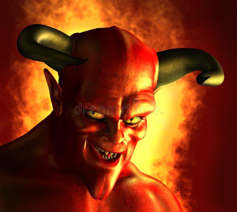 Sorrir forçadamente Devilish ilustração stock