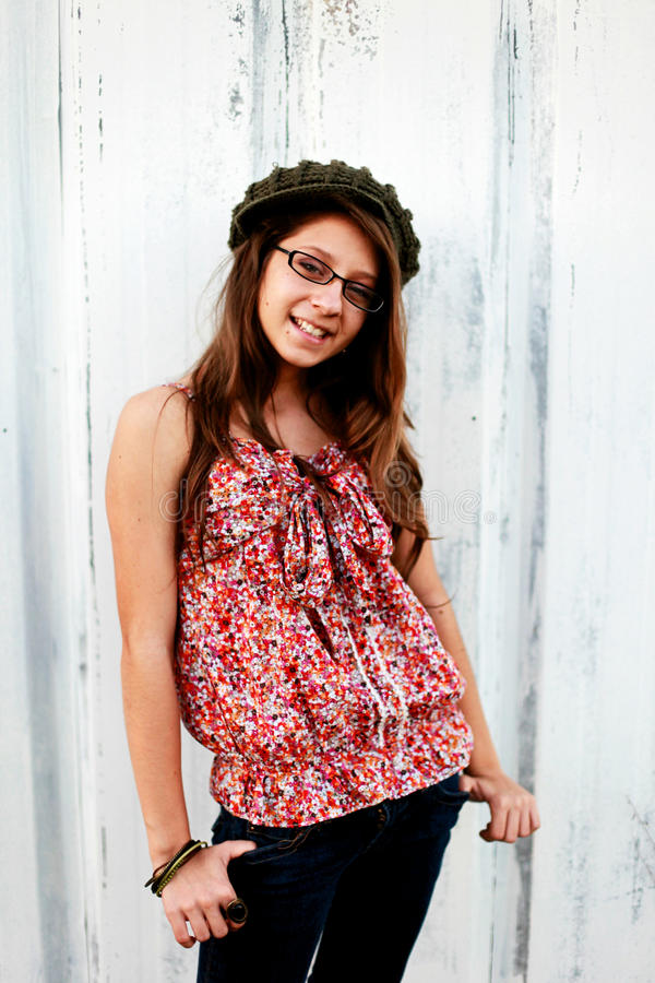 Sorriso adolescente foto de stock royalty free