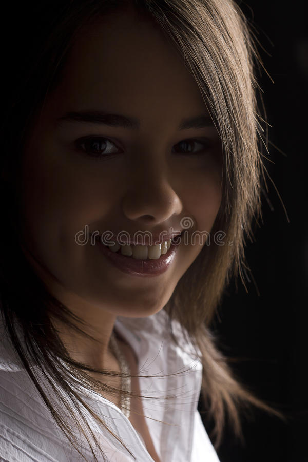 Sorriso adolescente imagens de stock