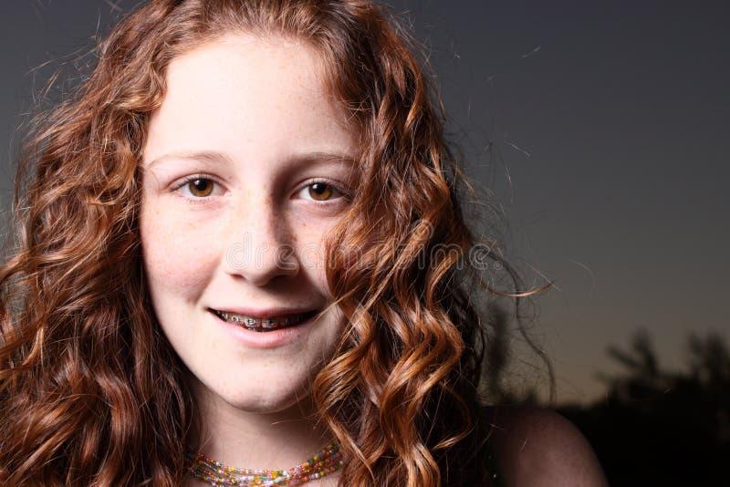 Sorriso adolescente fotografia de stock royalty free