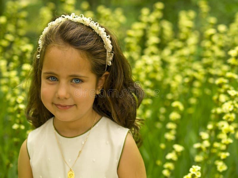 Sorriso adorável da menina foto de stock