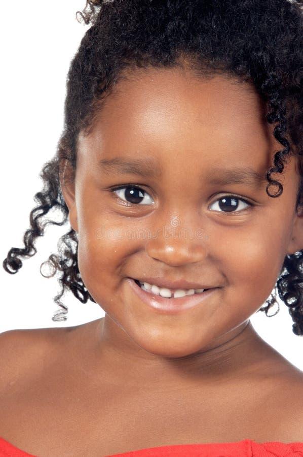 Sorriso adorável da menina foto de stock royalty free