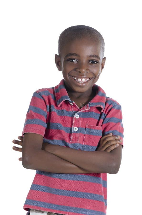 Sorriso africano do menino fotos de stock royalty free