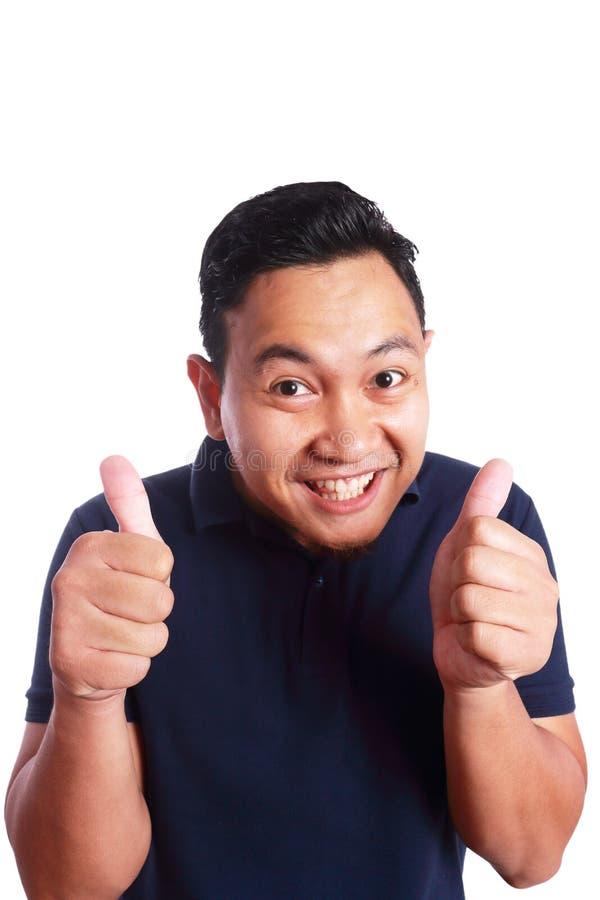 Sorriso asiático engraçado do homem fotos de stock royalty free