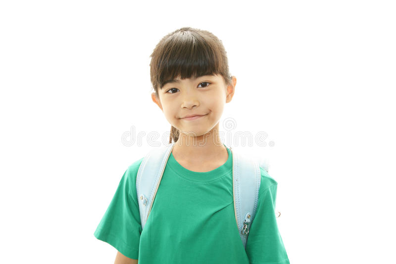 Sorriso asiatico felice della ragazza fotografia stock libera da diritti