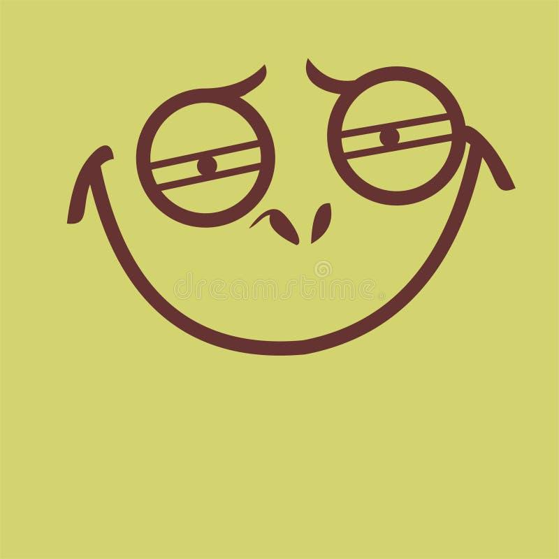 Sorriso bêbado da cara imagem de stock