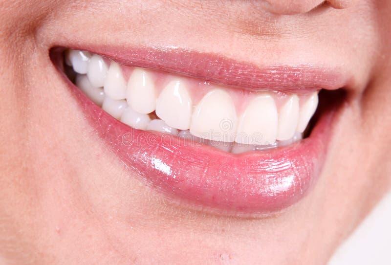Sorriso bianco fotografia stock
