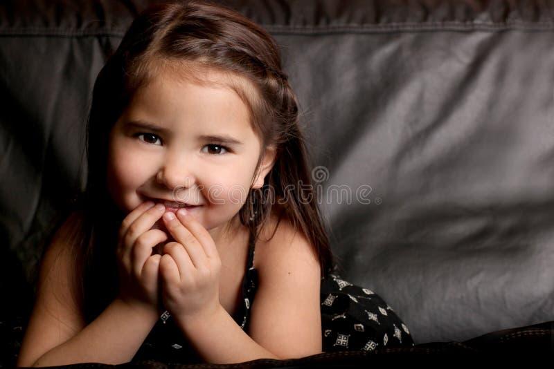 Sorriso bonito da criança foto de stock
