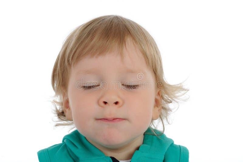 Sorriso bonito da criança pequena fotografia de stock royalty free