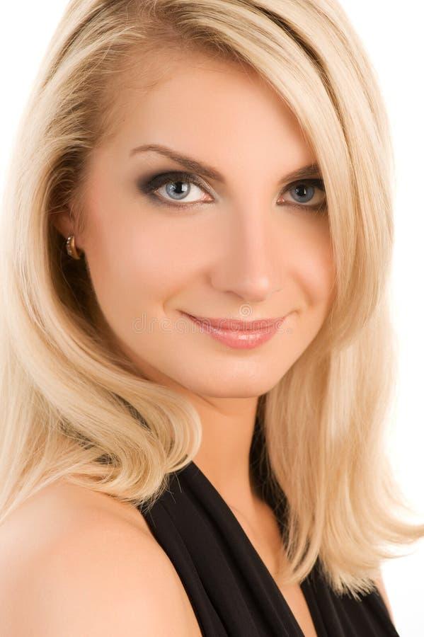 Sorriso bonito da face da mulher foto de stock royalty free