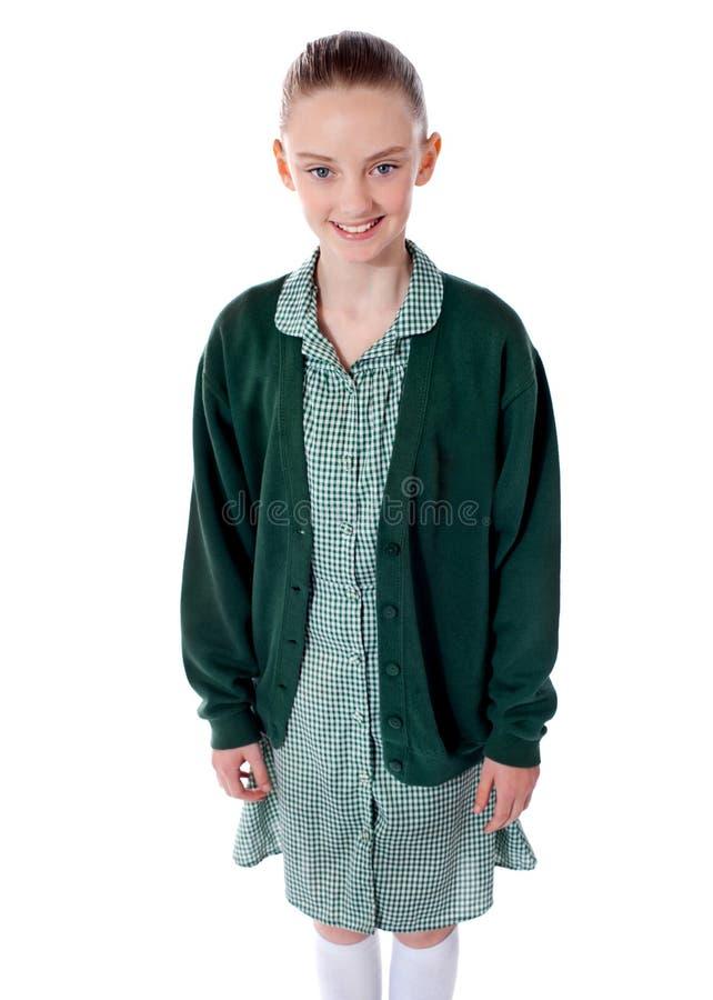Sorriso bonito da menina da escola imagens de stock