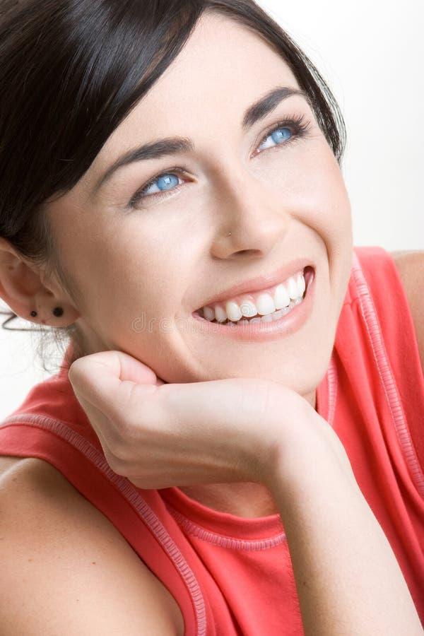 Sorriso bonito da mulher foto de stock royalty free