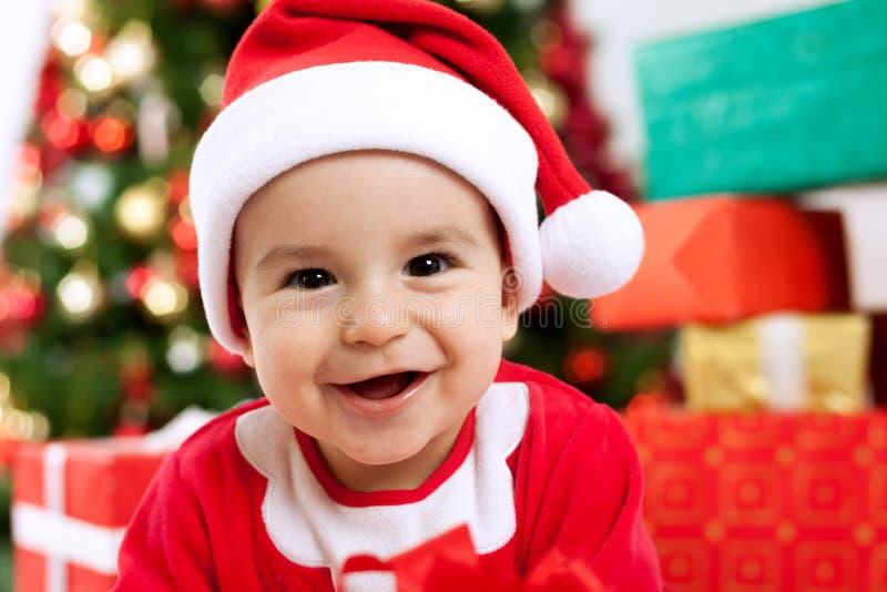 Sorriso bonito engraçado do bebê imagens de stock royalty free