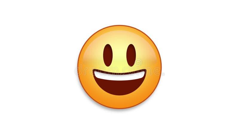 Sorriso brilhante Emoji com resíduo metálico de Luma foto de stock