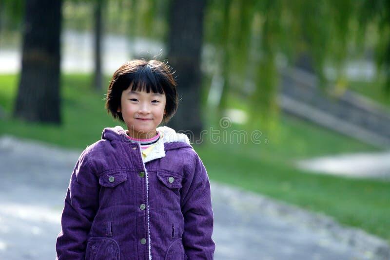 sorriso chinês das crianças foto de stock