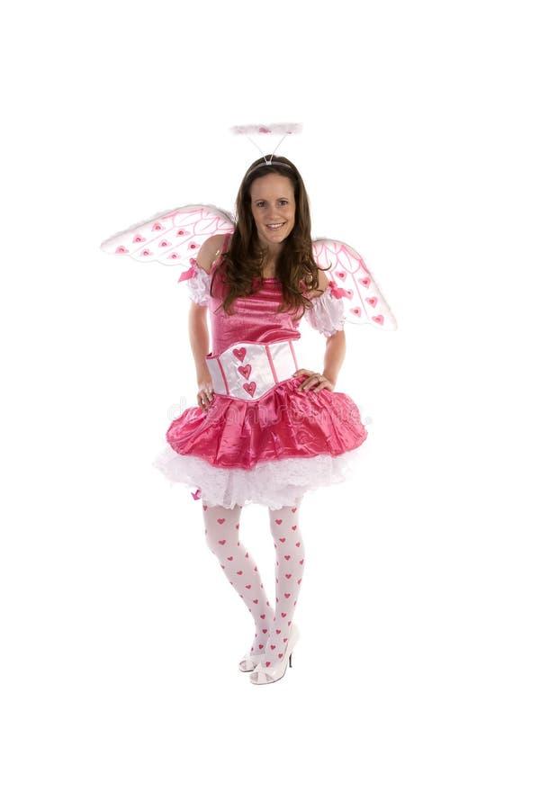 Download Sorriso Com Asas Cor-de-rosa Imagem de Stock - Imagem de símbolo, menina: 12812347