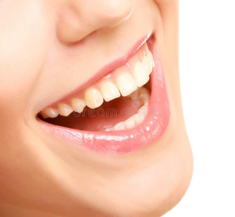 Sorriso com dentes saudáveis imagem de stock royalty free