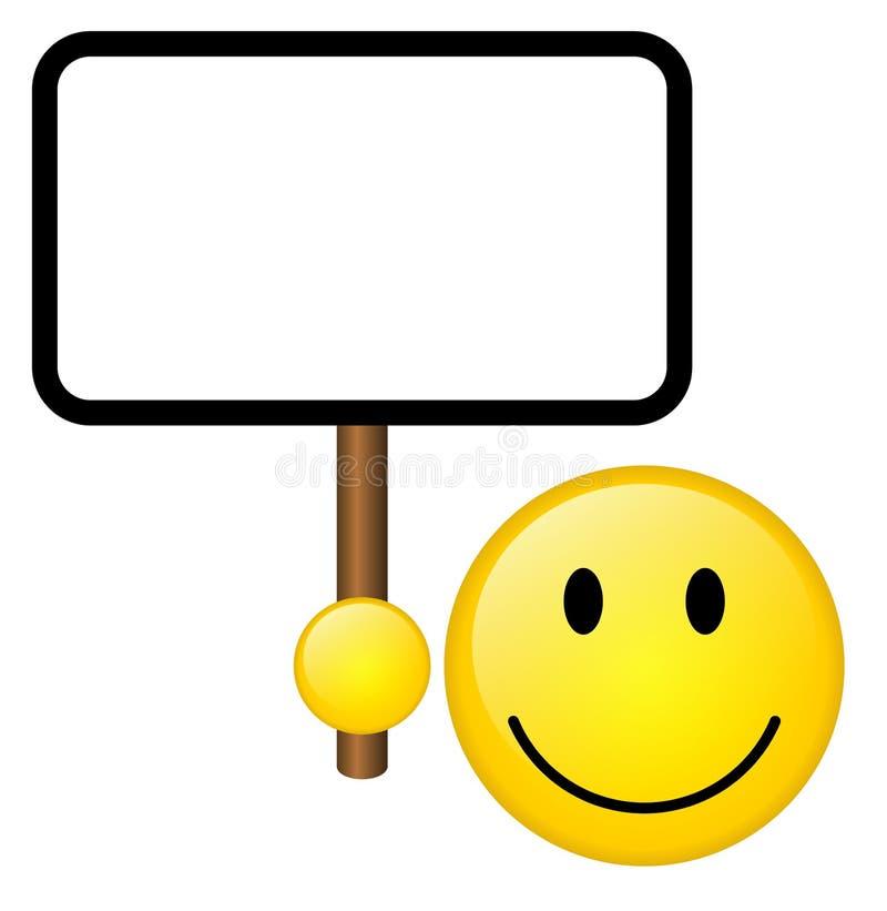 Sorriso com tabuleta ilustração do vetor