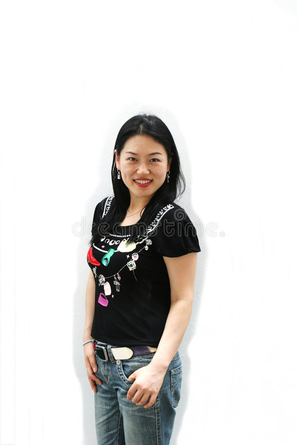 Sorriso coreano imagens de stock royalty free