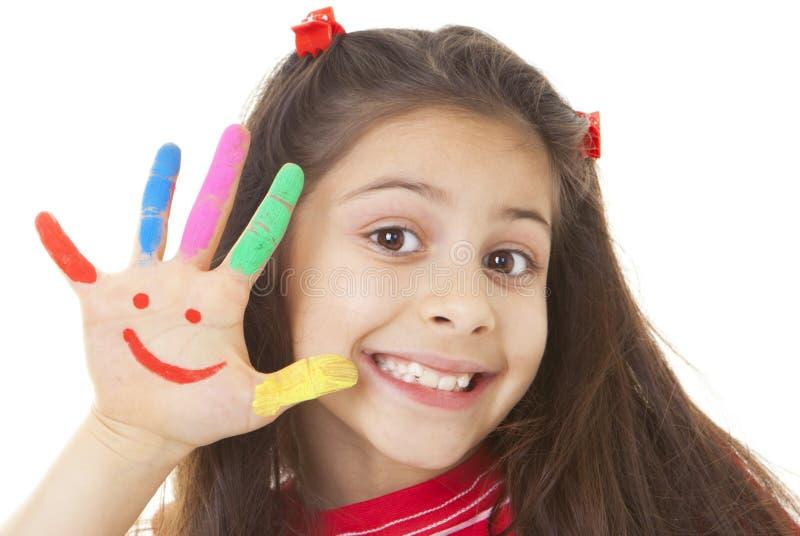 Sorriso, criança de sorriso foto de stock