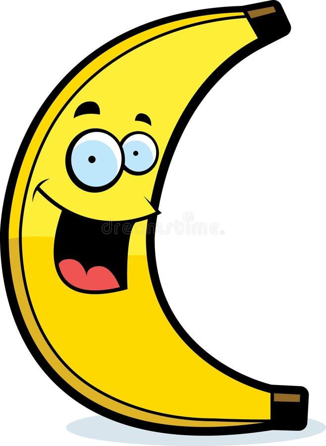 Sorriso da banana dos desenhos animados ilustração do vetor