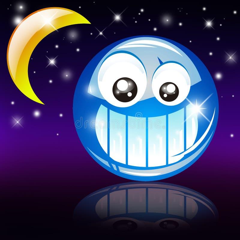 Sorriso da boa noite ilustração do vetor