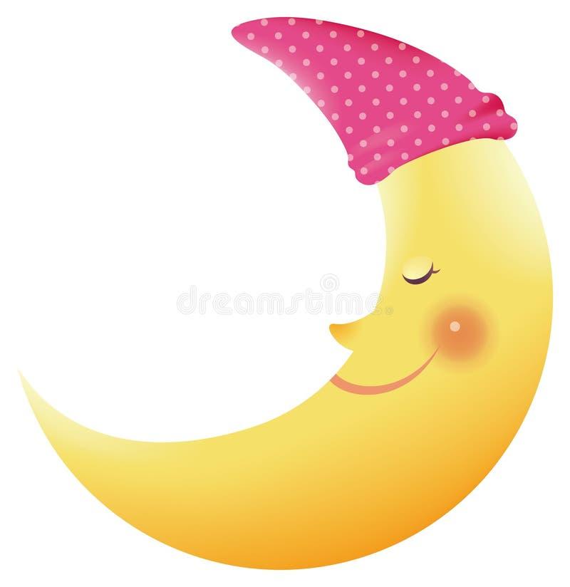 Sorriso da lua ilustração royalty free