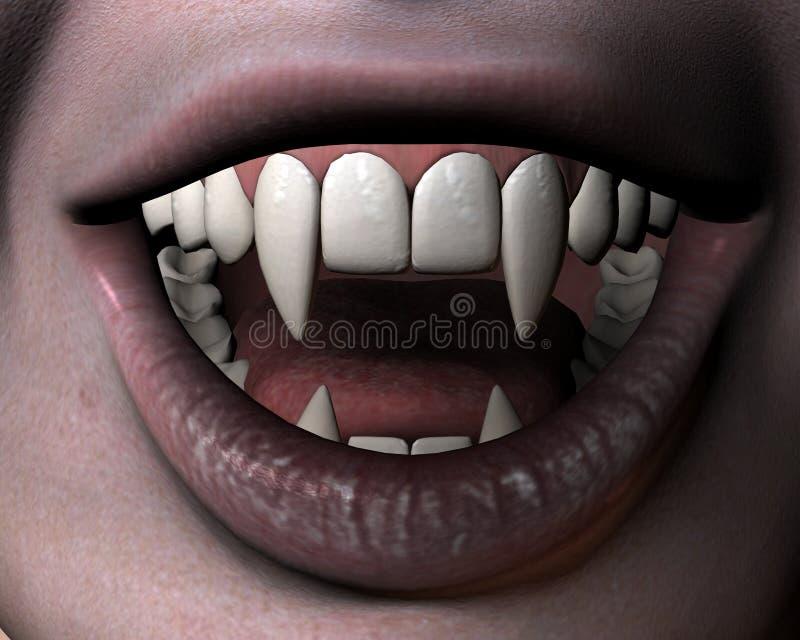 Sorriso da menina do vampiro ilustração do vetor