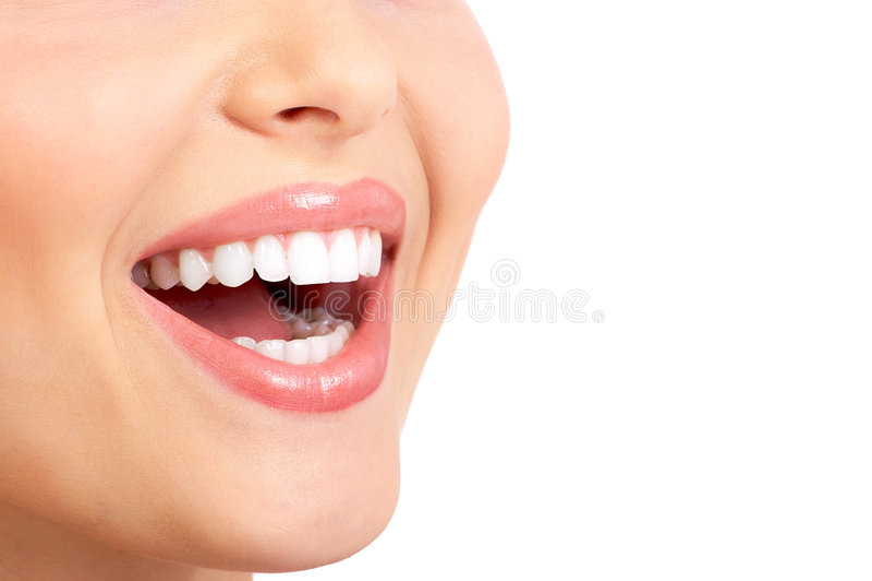 Sorriso da mulher foto de stock