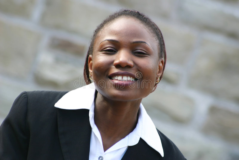 Sorriso da mulher de negócios imagens de stock royalty free