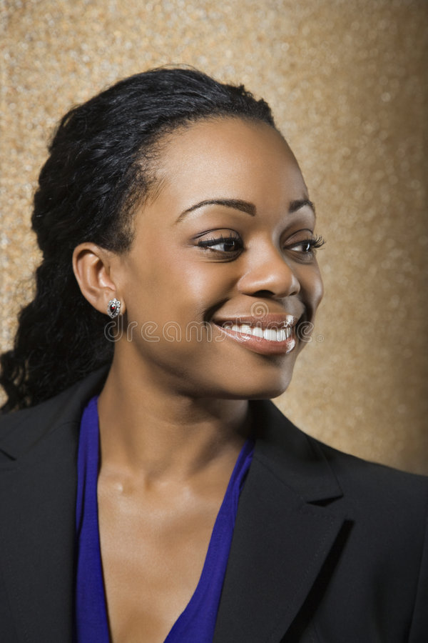 Sorriso da mulher de negócios. fotografia de stock