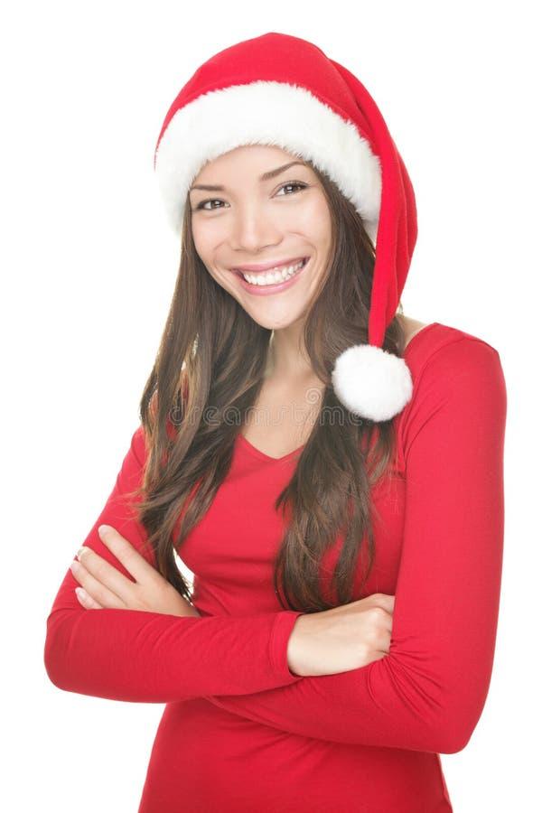Sorriso da mulher de Santa foto de stock royalty free