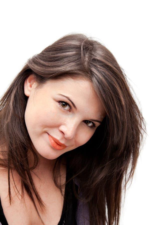 Sorriso da mulher nova fotos de stock royalty free