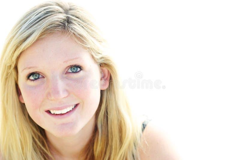 Sorriso da mulher nova foto de stock royalty free