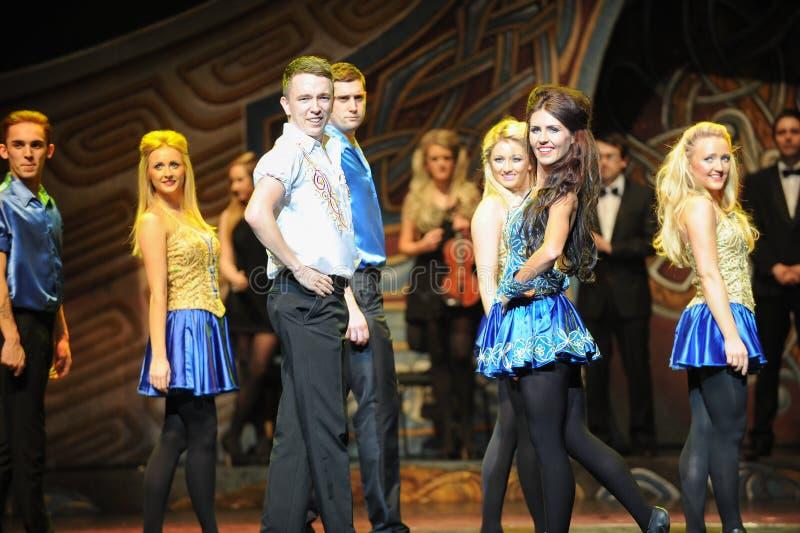 Sorriso---A dança de torneira nacional irlandesa da dança fotos de stock royalty free