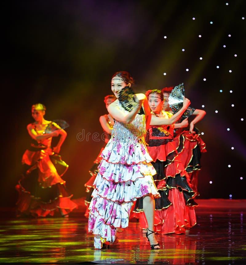 Sorriso ---A dança nacional espanhola fotografia de stock royalty free